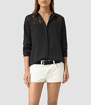 Mujer Lili Carel Shirt (Black) - product_image_alt_text_3