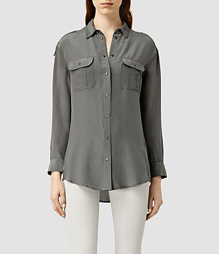 Damen Octavia Shirt (Slate Grey)