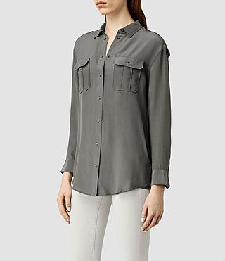 Damen Octavia Shirt (Slate Grey) - product_image_alt_text_2