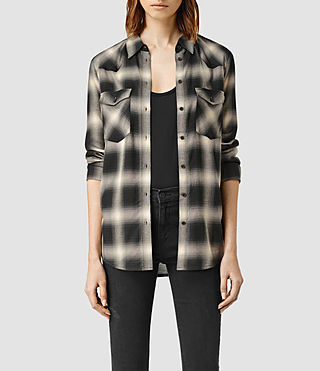 Womens Hill Shirt (Black Check)