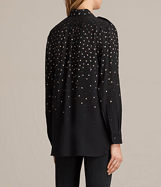 Womens Millie Estrela Silk Shirt (Black) - product_image_alt_text_4
