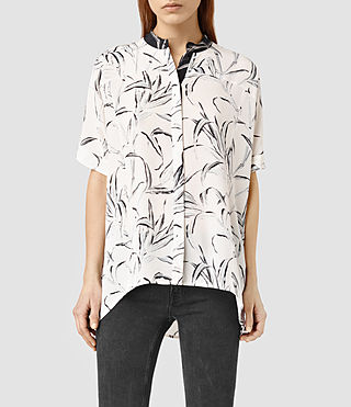 Womens Fleet Willow Shirt (Chalk White)