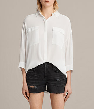 Women's Milson Shirt (Chalk White) -