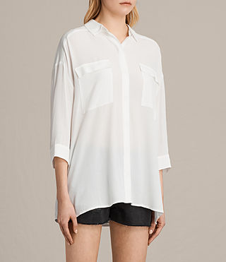 Women's Milson Shirt (Chalk White) - product_image_alt_text_2