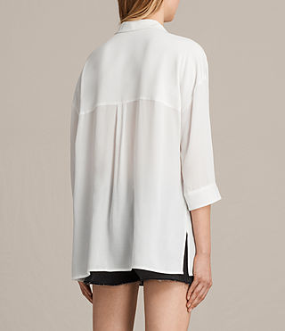 Womens Milson Shirt (Chalk White) - product_image_alt_text_3