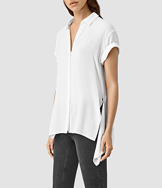 Womens Cheyne Shirt (Chalk White) - product_image_alt_text_1