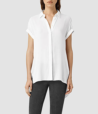 Womens Cheyne Shirt (Chalk White) - product_image_alt_text_2