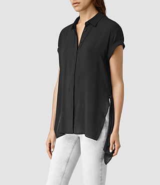 Mujer Cheyne Shirt (Black) - product_image_alt_text_2