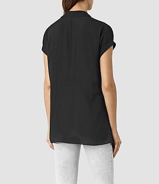 Women's Cheyne Shirt (Black) - product_image_alt_text_3