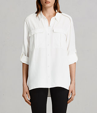 Damen Millie Shirt (Chalk White)