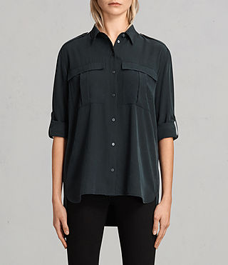 Damen Millie Shirt (Black) -