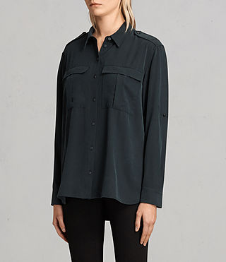 Women's Millie Shirt (Black) - product_image_alt_text_3