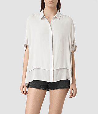 Mujer Wilder Shirt (OYSTER WHITE) - product_image_alt_text_1