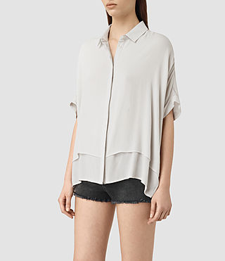 Mujer Wilder Shirt (OYSTER WHITE) - product_image_alt_text_2