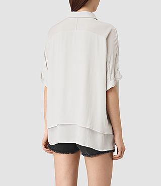 Mujer Wilder Shirt (OYSTER WHITE) - product_image_alt_text_3