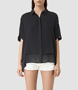Mujer Wilder Shirt (Black) - product_image_alt_text_1