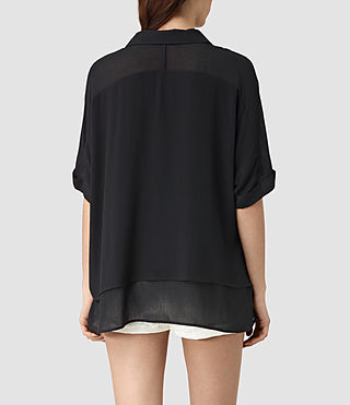 Mujer Wilder Shirt (Black) - product_image_alt_text_3