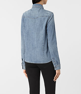 Damen Kaia Indigo Denim Shirt (Indigo Blue) - product_image_alt_text_3
