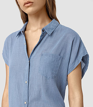 Damen Tyra Short Sleeve Shirt (LIGHT INDIGO BLUE) - product_image_alt_text_2