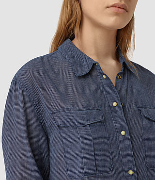 Donne Tyra Long Shirt (DARK INDIGO BLUE) - product_image_alt_text_2