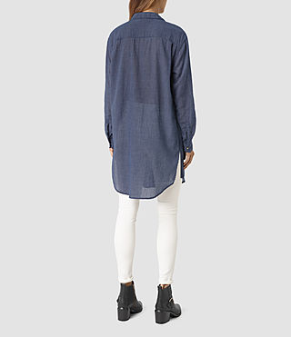 Donne Tyra Long Shirt (DARK INDIGO BLUE) - product_image_alt_text_5