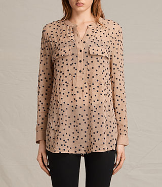 Damen Picolina Embroidered Shirt (CARAMEL BROWN) -