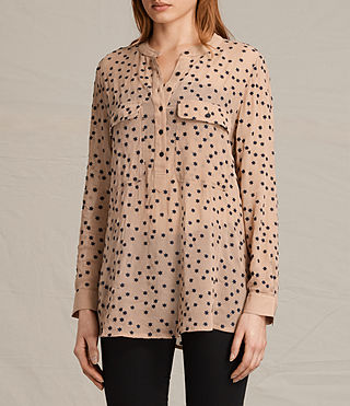 Damen Picolina Embroidered Shirt (CARAMEL BROWN) - product_image_alt_text_3
