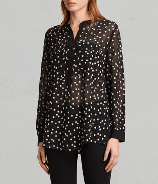 Womens Picolina Embroidered Shirt (Black) - product_image_alt_text_3