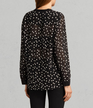 Womens Picolina Embroidered Shirt (Black) - product_image_alt_text_4