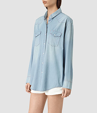 Mujer Gemma Long Sleeve Shirt (Indigo Blue) - product_image_alt_text_2