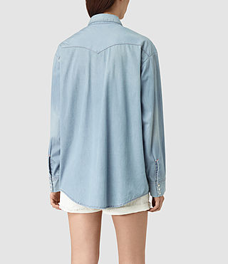 Mujer Gemma Long Sleeve Shirt (Indigo Blue) - product_image_alt_text_3
