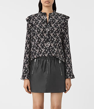 Womens Edin Nevin Silk Shirt (Black)