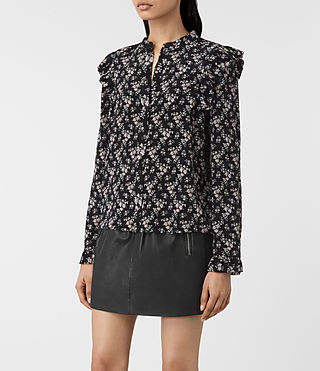 Mujer Edin Nevin Shirt (Black) - product_image_alt_text_3