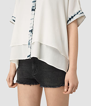 Women's Wilder Tye Shirt (CHALK WHITE/BLUE) - product_image_alt_text_2