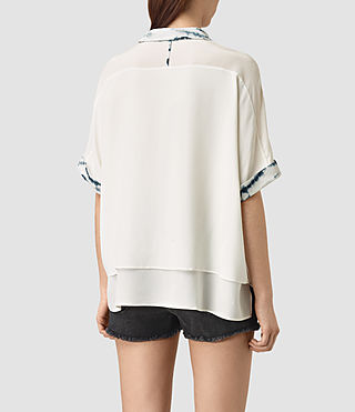Women's Wilder Tye Shirt (CHALK WHITE/BLUE) - product_image_alt_text_4