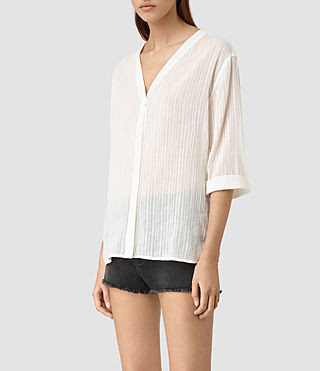 Mujer Wairyn Shirt (Chalk White) - product_image_alt_text_3
