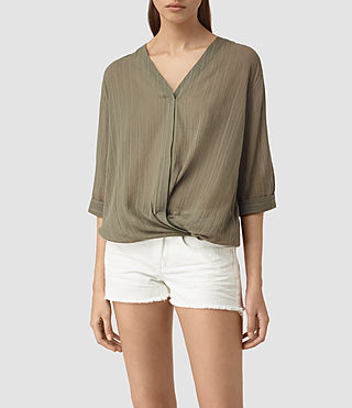 Womens Wairyn Shirt (EARTHY GREEN) - product_image_alt_text_1
