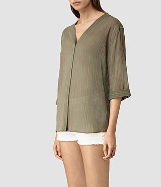 Women's Wairyn Shirt (EARTHY GREEN) - product_image_alt_text_3