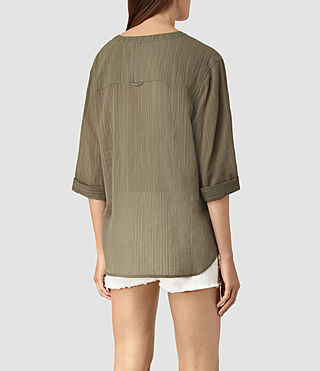 Women's Wairyn Shirt (EARTHY GREEN) - product_image_alt_text_4