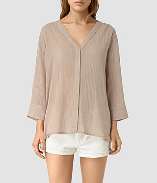 Womens Wairyn Shirt (Biscuit Brown) - product_image_alt_text_1