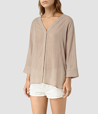 Mujer Wairyn Shirt (Biscuit Brown) - product_image_alt_text_4