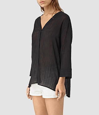 Damen Wairyn Shirt (Black) - product_image_alt_text_4