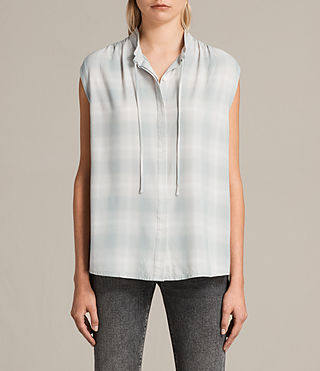 Women's Raya Check Shirt (FADED) - Image 1