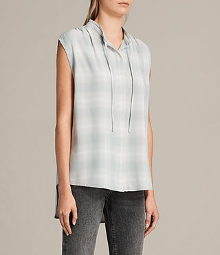 Women's Raya Check Shirt (FADED) - Image 2