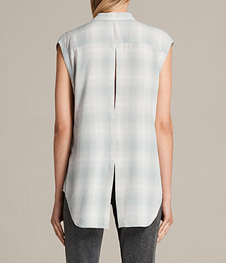 Damen Raya Check Shirt (FADED) - product_image_alt_text_3