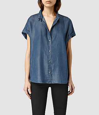 Womens Jil Shirt (Indigo Blue)