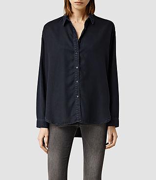 Womens Fin Blue/Black Shirt (Blue/Black)
