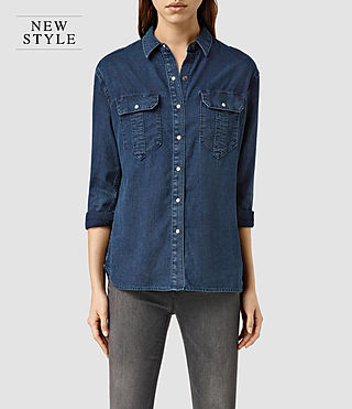 Womens Octavia Shirt (Indigo Blue)