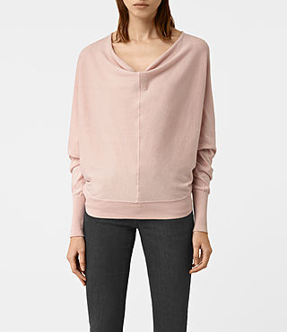 Womens Elgar Cowl Neck Sweater (Pink)