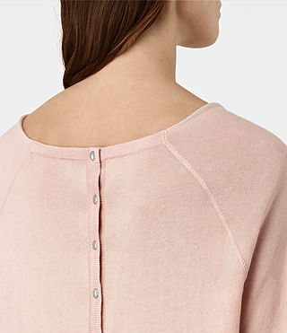 Women's Elgar Cowl Neck Jumper (Pink) - product_image_alt_text_2